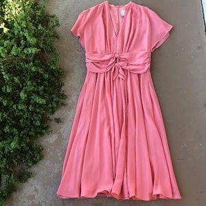 Gal Meets Glam Pink Jane Tie Waist Midi Dress